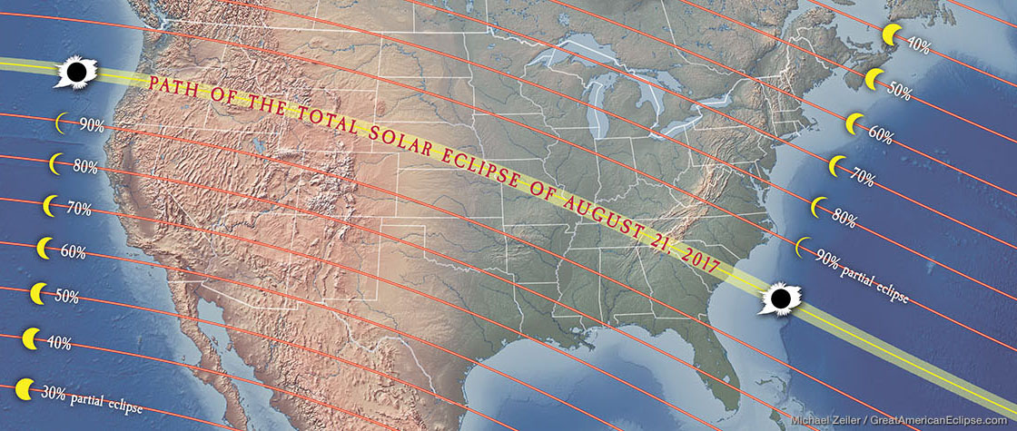 Solar Eclipse In Leo Align With Soul Purpose - Us solar eclipse 2017 map